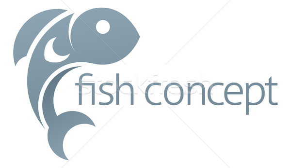 Fish Icon Concept Stock photo © Krisdog