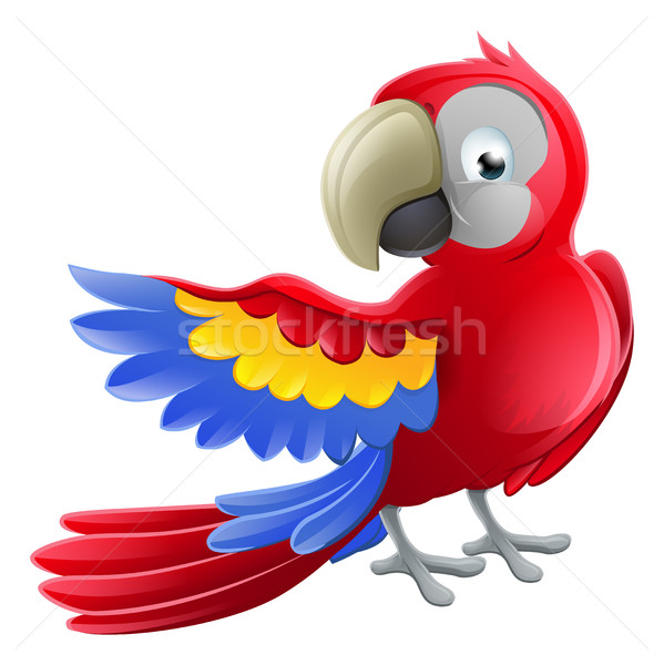 Parrot Animal Cartoon Character Stock photo © Krisdog
