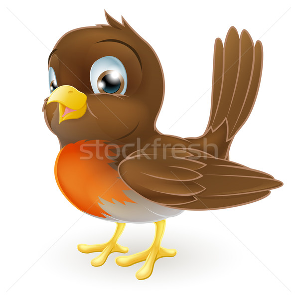 Cute cartoon Robin Illustration Stock photo © Krisdog