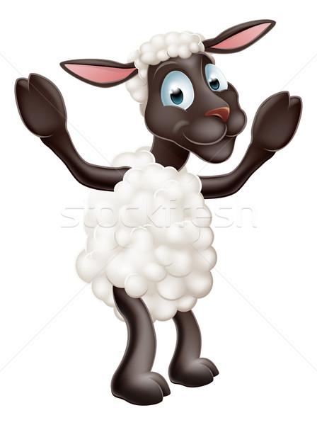 Sheep cartoon character Stock photo © Krisdog
