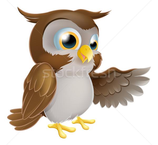 Pointing Owl Character Stock photo © Krisdog
