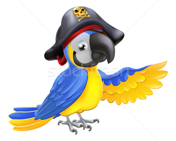 Pirate Parrot Illustration Stock photo © Krisdog