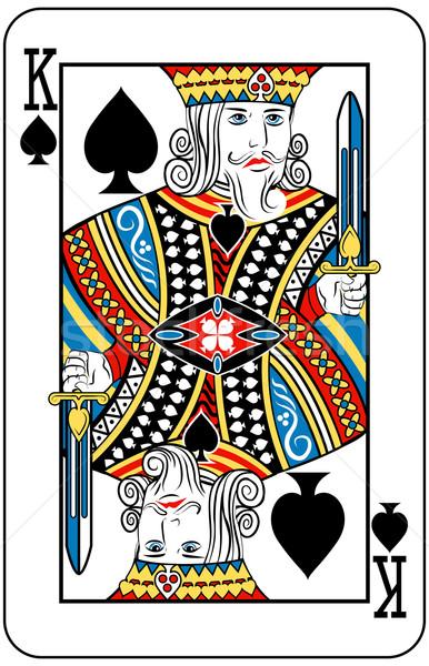 Kral maçalar oynama kart mektup kılıç Stok fotoğraf © Krisdog