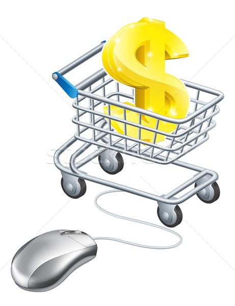 Dollar sign mouse trolley Stock photo © Krisdog