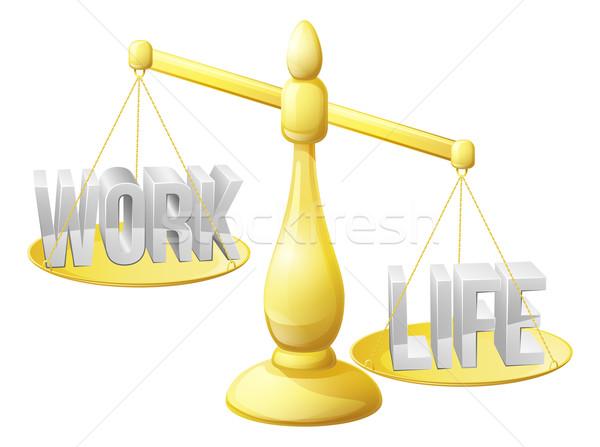 Trabalhar vida saldo balança não suficiente Foto stock © Krisdog