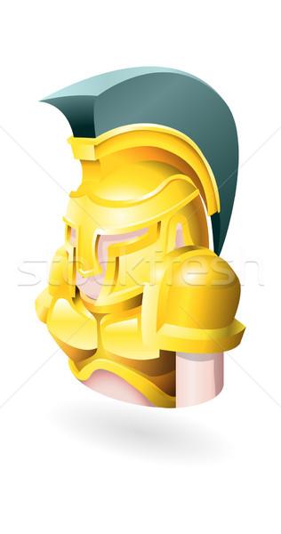 Spartan illustration homme personne casque histoire Photo stock © Krisdog