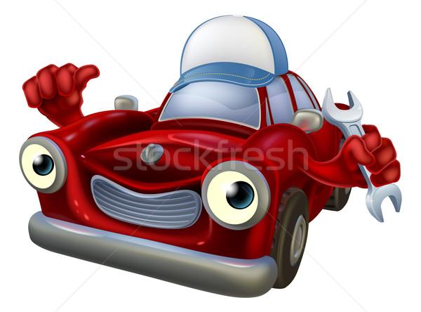 Cartoon car mechanic mascot Stock photo © Krisdog