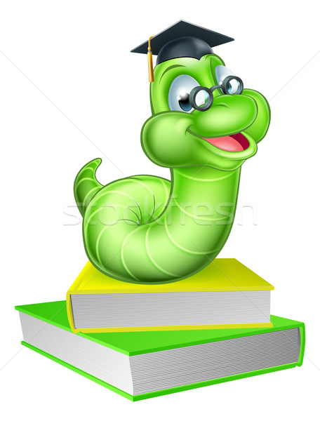 Cute Cartoon Caterpillar Worm Stock photo © Krisdog