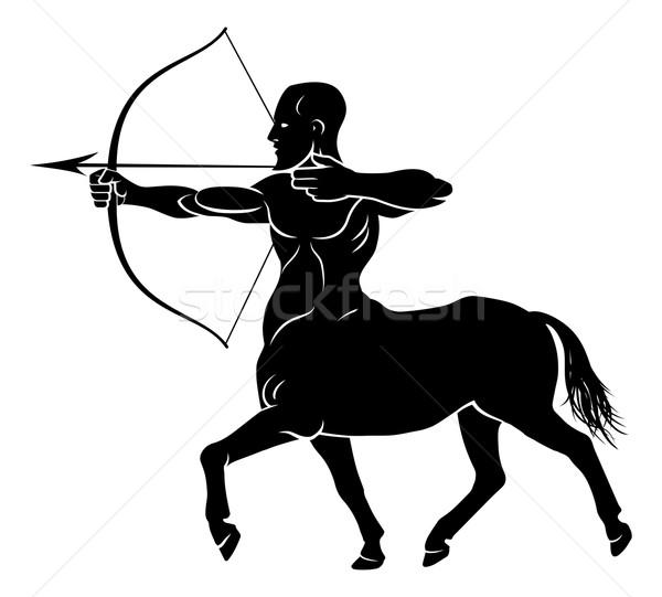 Mítico arquero caballo hombre carácter Foto stock © Krisdog