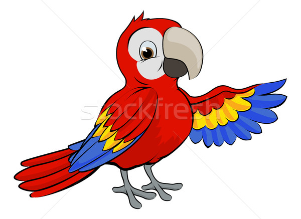 Cartoon Parrot Stock photo © Krisdog