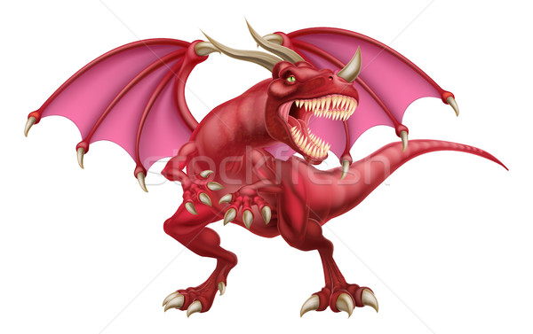 Red Dragon Stock photo © Krisdog