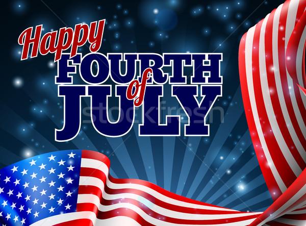 Dördüncü amerikan bayrağı dizayn gün sınır parti Stok fotoğraf © Krisdog