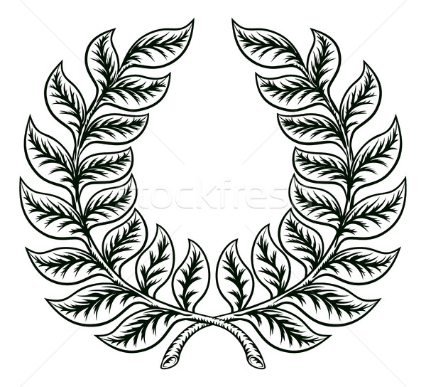 Laurel Wreath Design Stock photo © Krisdog