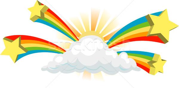 日照 星 ファンキー 雲 にログイン 空 ストックフォト © Krisdog