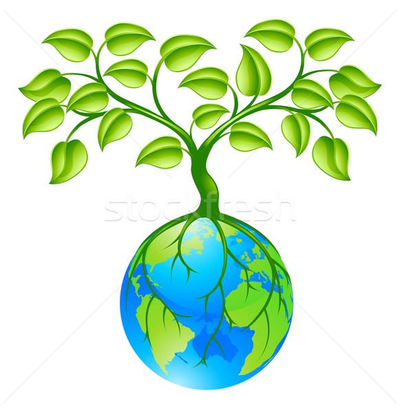 планете Земля мира дерево концепция иллюстрация Мир Сток-фото © Krisdog