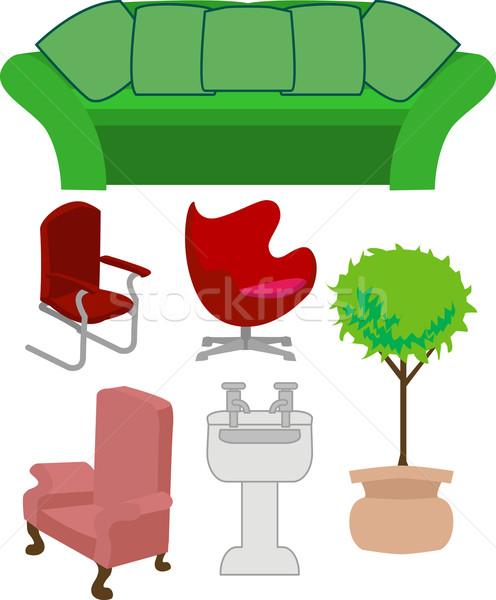 家具 セット 家 デザイン キッチン ルーム ストックフォト © Krisdog