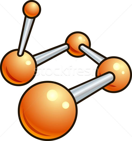 Shiny molecule illustration icon Stock photo © Krisdog