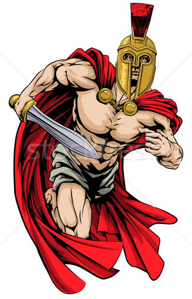 Photo stock: Spartan · trojan · homme · illustration · guerrier · personnage