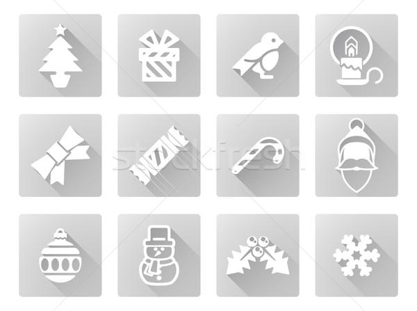 Christmas icon set Stock photo © Krisdog