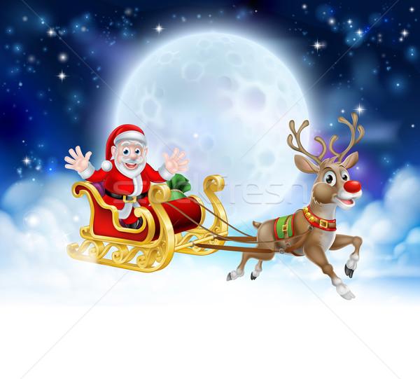 Santa Sleigh Header Stock photo © Krisdog