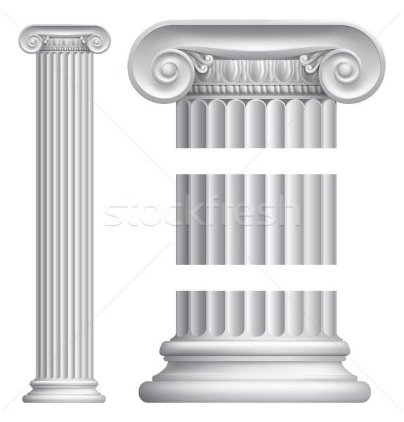 Colonna pilastro illustrazione classico greco romana Foto d'archivio © Krisdog