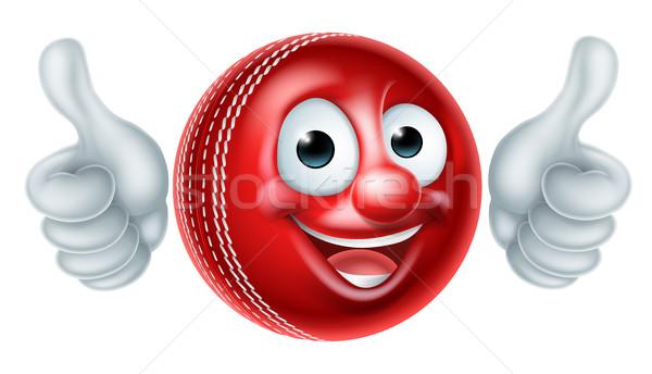 Cricket Ball Cartoon Character Stock photo © Krisdog