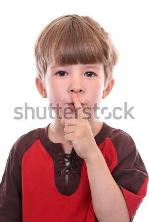 Titok kézmozdulat hív csend titkolózás kéz Stock fotó © krugloff