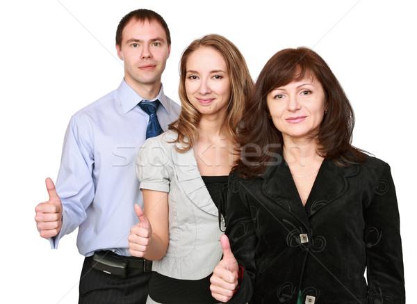 Tüm mükemmel grup ofis çalışanları memnun müjde Stok fotoğraf © krugloff