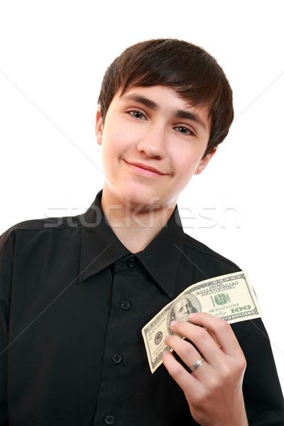 Duygular genç neşeli 100 para Stok fotoğraf © krugloff