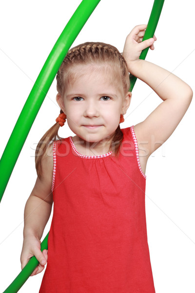 The girl with a gymnastic hoop  Stock photo © krugloff