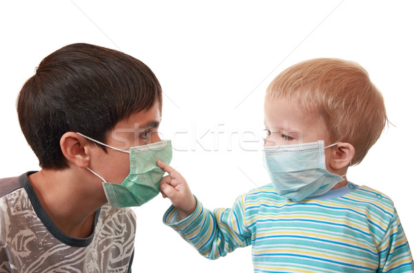 Children in medical masks   Stock photo © krugloff