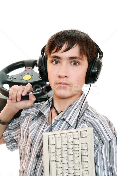 Teenage gamers  Stock photo © krugloff