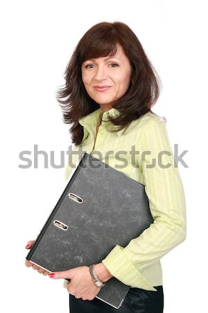 Portre güzel işkadını ofis çalışanı iş kız Stok fotoğraf © krugloff