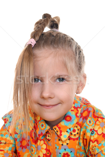 A girl with a pigtail  Stock photo © krugloff