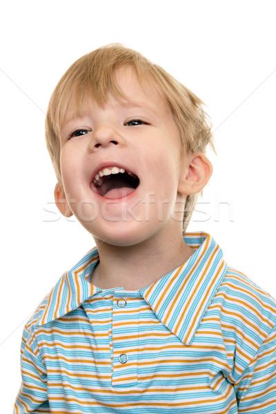 Joyeux Kid hurlant enfant sourire oeil Photo stock © krugloff