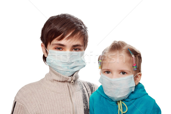 Protection from a swine flu  Stock photo © krugloff