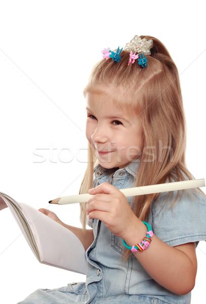 The emotional girl draws  Stock photo © krugloff