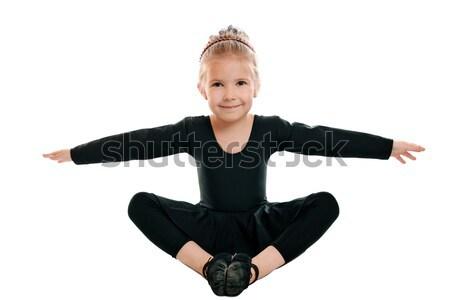 Kız jimnastik egzersiz güzel kız meşgul Stok fotoğraf © krugloff