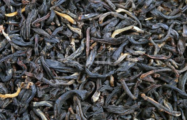 Siyah çay makro yaprakları doku yaprak Stok fotoğraf © krugloff