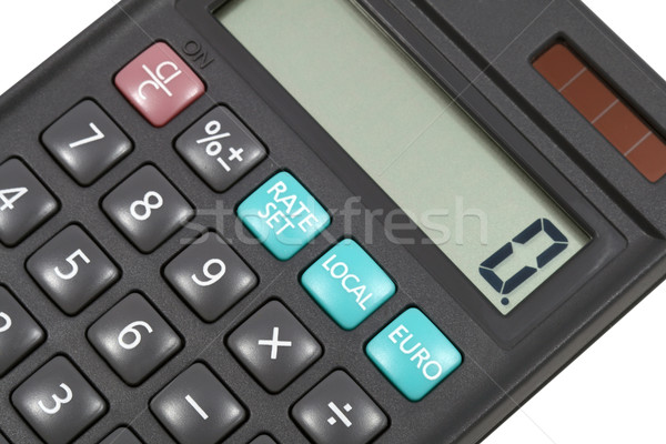 Hesap makinesi anahtar para klavye tablo euro Stok fotoğraf © krugloff