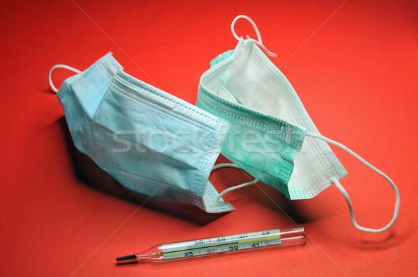 Médicaux masques thermomètre protection infection définition Photo stock © krugloff