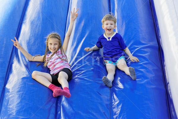 Joie divertissement drôle enfants gonflable Photo stock © krugloff