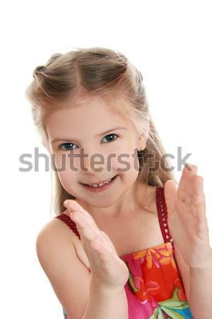 Entusiasmo ragazza bambino bella braccia movimento Foto d'archivio © krugloff