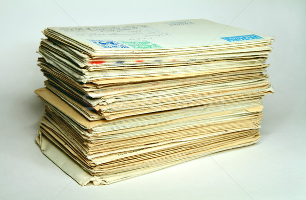 Pile of old letters  Stock photo © krugloff