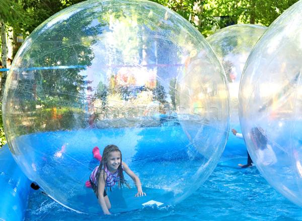 Parc attraction eau enfant sport balle Photo stock © krugloff
