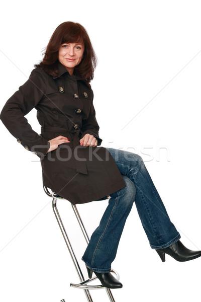 Sourire studio portrait positif belle femme fille Photo stock © krugloff