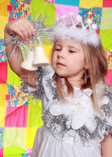 Kız yeni yıl elbise oyuncak Stok fotoğraf © krugloff