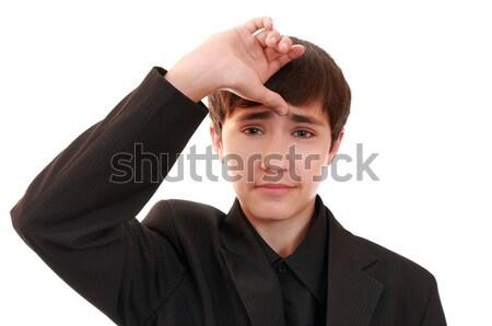 горе гримаса подростку человек портрет мальчика Сток-фото © krugloff