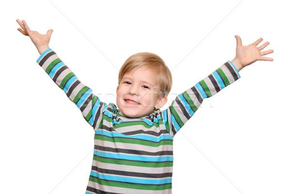 Neşeli çocuk silah gülümseme gülme Stok fotoğraf © krugloff