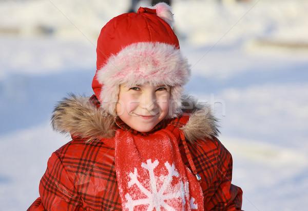 Fille portrait nord pays vêtements Noël Photo stock © krugloff